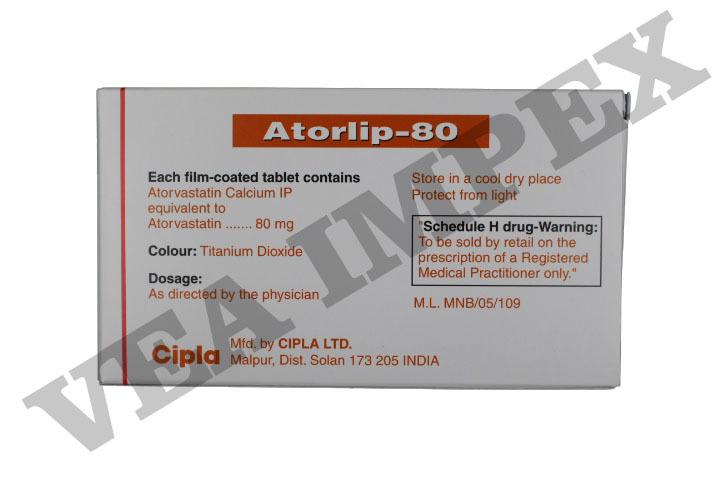 Atorlip 80 mg Tablets