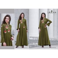 Fancy Rayon Gown Kurtis