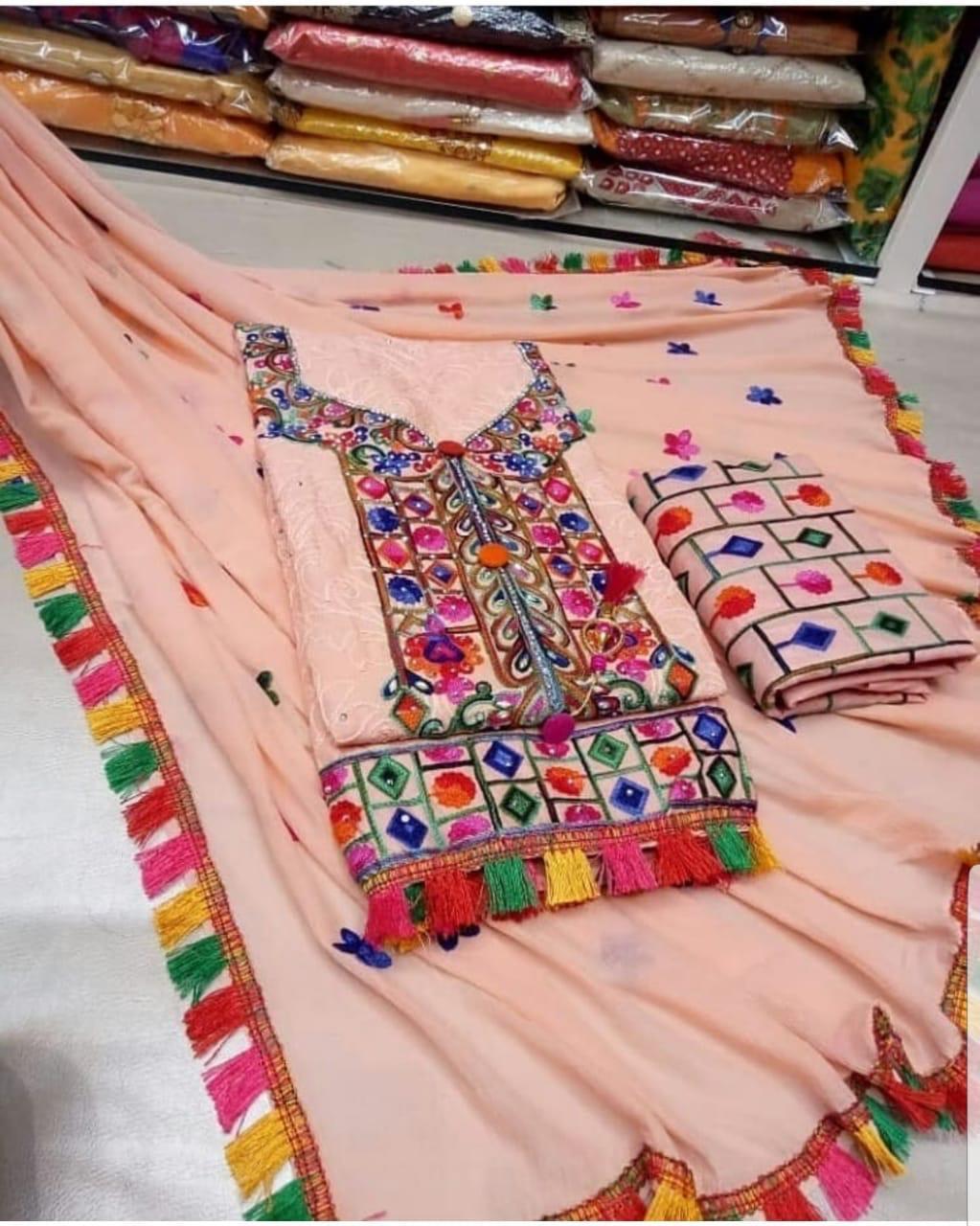 Designer unstitched Ladies Suit