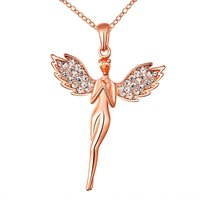 18K Rose Gold Plated Pendant.Perfect for Your Angel!