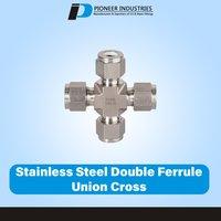 Stainless Steel Double Ferrule Union Cross