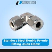 Stainless Steel Double Ferrule Fitting Union Elbow