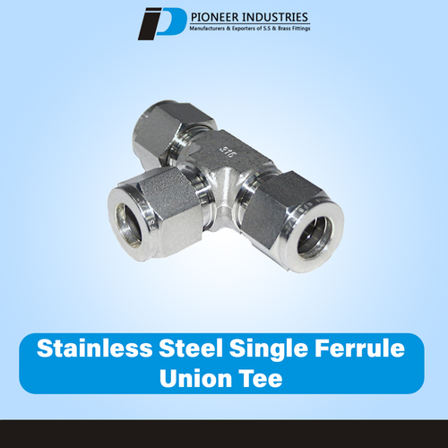 Stainless Steel Single Ferrule Union Tee