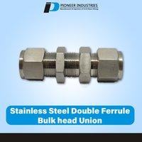 Stainless Steel Double Ferrule Bulk head Union