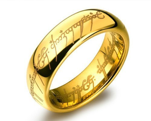 18K Gold Plated lord of the rings for Boys and Men