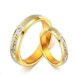 18K Gold Plated Proposal Couple Rings