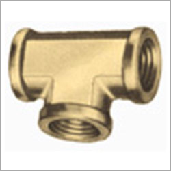 Brass Double Ferrule Union Tee