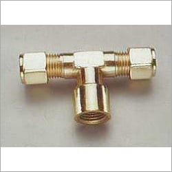 Brass Compression Fitting Female Branch Tee