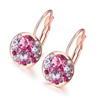 A5 Grade Crystal Radiant 18K Rose Gold Clip-On Earrings