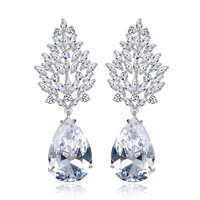A5 Grade Crystal White Diamond Classic Designer Crystal Earrings