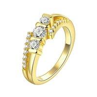 High Grade Crystal Golden Ring