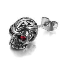 Monster Skull Single Stud Stainless Steel Earrings