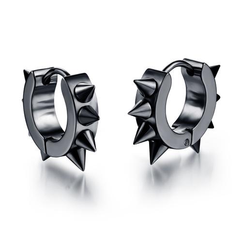 Black Spiky Stud Earrings
