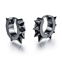 Black Spiky Stud Earrings