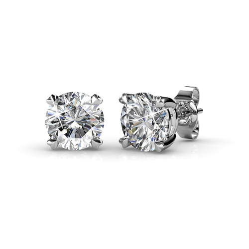 Crystals from Swarovski Small White Crystal Stud Earrings
