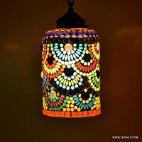 Hanging Lantern Mosaic Hanging Lamp Chandelier Home Decor Night Hanging Lamp