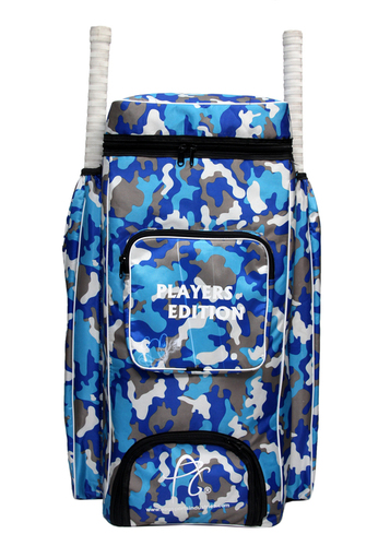 APG Cricket Kit Bag Camouflage Backpack- Blue Print