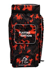 APG Cricket Kit Bag Camouflage Backpack- Orange Print