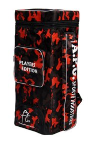 APG Cricket Kit Bag Camouflage Backpack- Orange Print