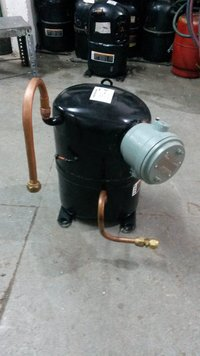 Compressor With Flame Proof Terminal Cover
