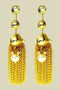 Diamond Pearl Earring
