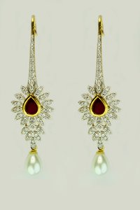 Ruby Dangling Earring