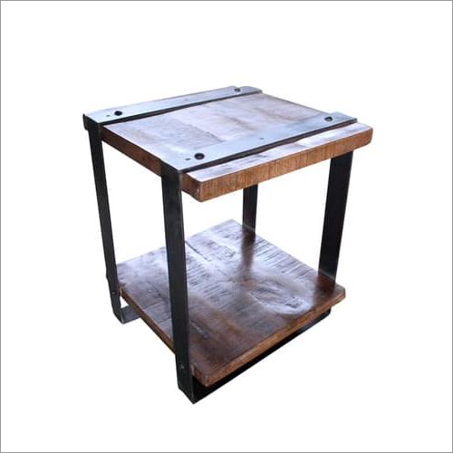 Wood Iron Stool