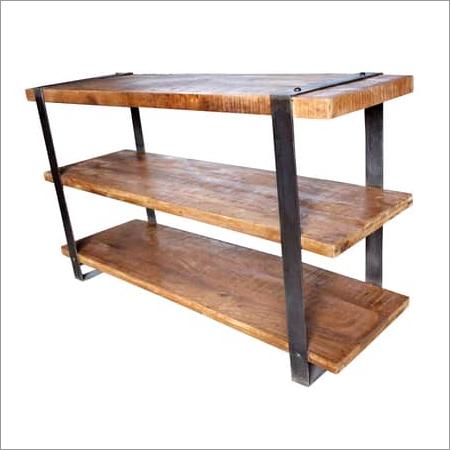 Wood Iron Bookshelves
