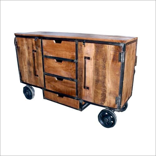 Wood Metal Trolley