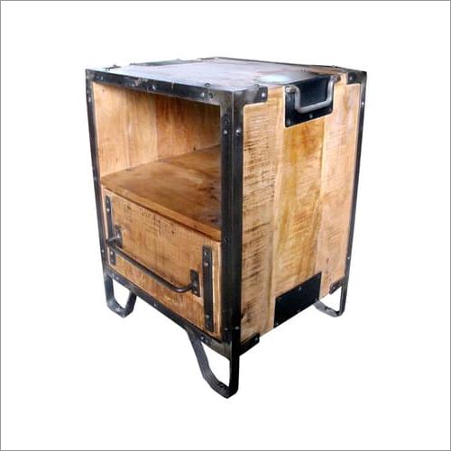 Wood Metal Bedside