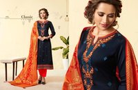 Designer Suits With Banarasi Silk Dupatta