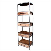 Wooden Iron Corner Shelf