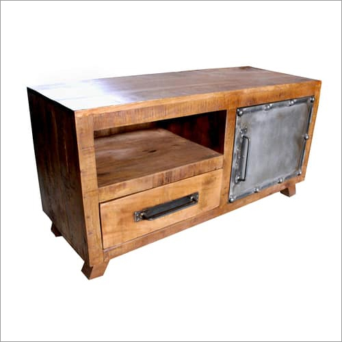 Wood Iron Tv Unit