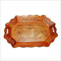 15X10 Oval Shape Wooden Tray