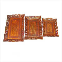 18X12 15X10 13X9 Wooden Angoori Tray Set