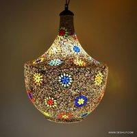 Hanging Light Pendant Hanging Lamp Mosaic Glass Hanging