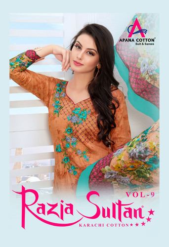 Razia Cotton Dress Catalog Vol 9.