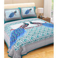 Peacock Blue Bed Sheet