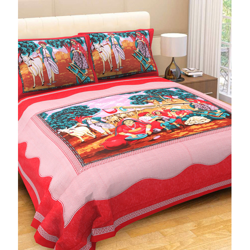 Red Bed Sheet