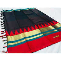 Black Zari Border Cotton Silk Saree