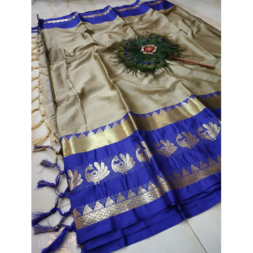 Cream Colour Cotton Silk Saree