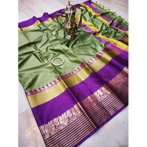 Flora Zari Border Cotton Silk Saree