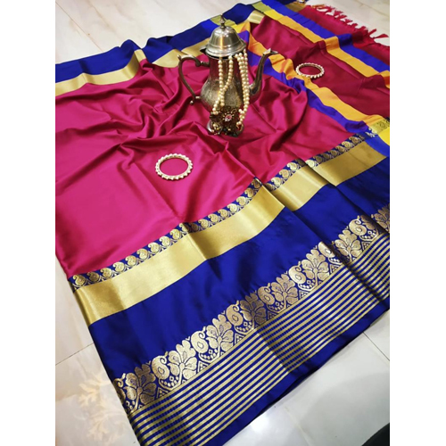 Flora Cotton Silk Saree