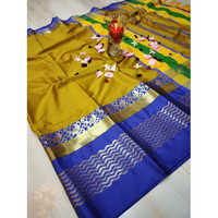 Yellow Colour cotton Silk Saree