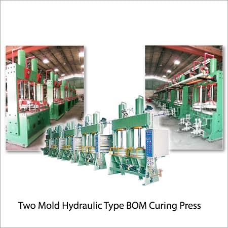 Two Mold Hydraulic Type B-O-M Curing Press