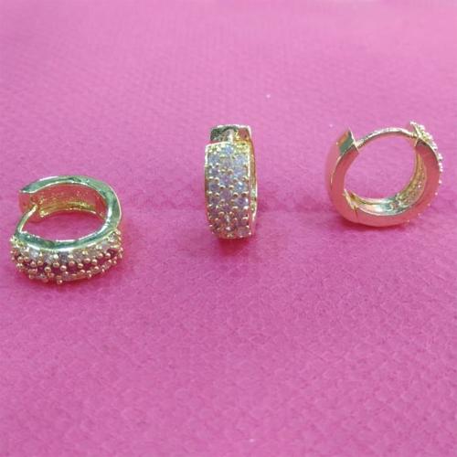 Stone Imitation Earring (Round Bali)