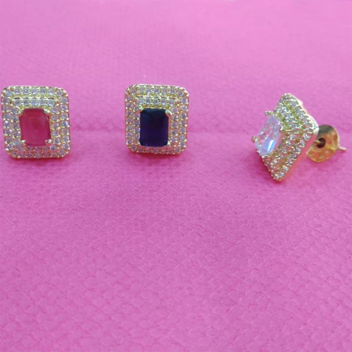 Gold Plated Square Earings