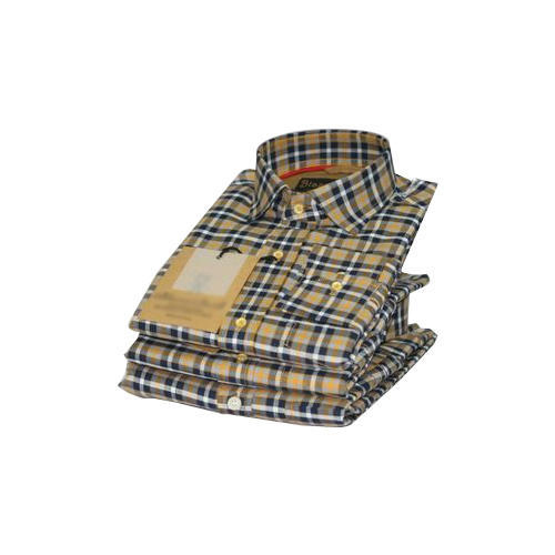Men Designer Check Shirt