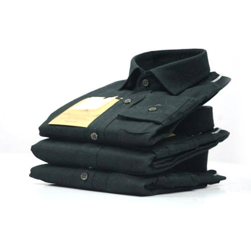 Mens Plain Black Shirt