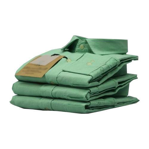 Mens Plain Green Shirt